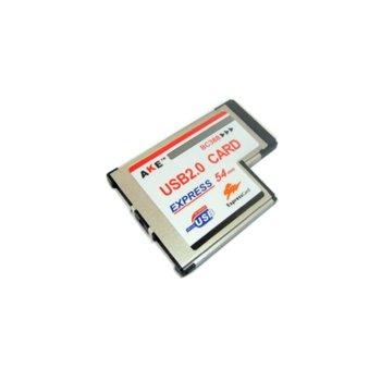 Карта DF17490 USB2.0 EXPRESS Card, максимална скорост 12Mbps и ниска скорост 1.5Mbps image