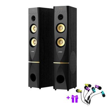 Тонколони Fenda T-88X, 2.0, 300W (150W + 150W), Bluetooth 4.2, AUX, USB, Optical, 3.5mm jack, черни image