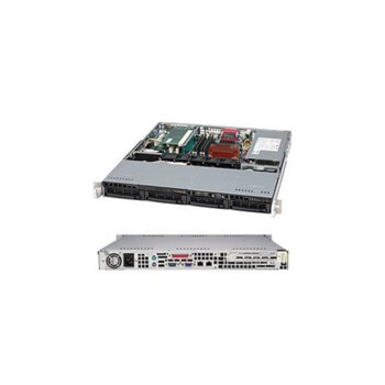 "Сървър AIS AIS-122R1S-8-2(42556), четириядрен Hasswell Intel Xeon E3-1220 v3 3.1/3.5GHz, 8GB DDR3 ECC, 2TB(2x 1TB) SATA 3.5"", 2x LAN1000, без OS, 350W захранване image"