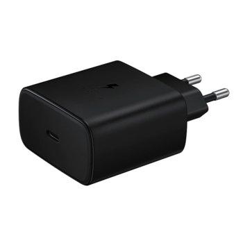 Зарядно устройство Samsung Super Fast Travel Charger, от контакт към USB-C (ж), 45W, черно image