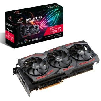 Видео карта AMD Radeon RX 5600 XT, 6GB, Asus ROG Strix OC Gaming, PCI-E 4.0, GDDR6, 192bit, 3x DisplayPort, HDMI image