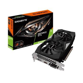 Видео карта Nvidia GeForce GTX 1650 SUPER, 4GB, Gigabyte WINDFORCE OC, PCI-E, GDDR6, 128bit, HDMI, DisplayPort, DVI image