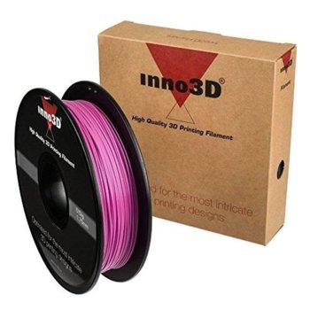 Консуматив за 3D принтер Inno3D, PLA Pink, 1.75mm, розов, 500g, пакет от 5 броя image