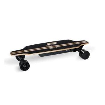 Електрически скейтборд Nilox DOC Skateboard, до 12км/ч скорост, 20км макс. пробег, до 100кг, 200W двигател, джойстик за управление, черен image