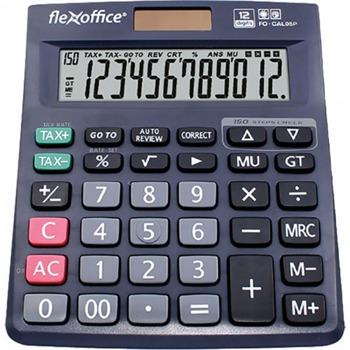 Калкулатор Flex Office FO-CAL05S, 12 разряден дисплей, настолен, Memory функция, клавиш двойна нула, функция Grand Total, черен image