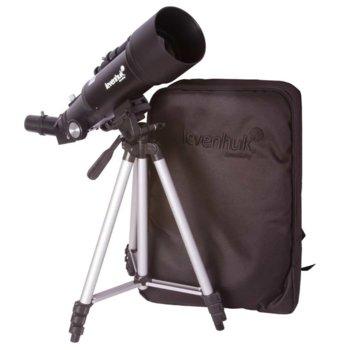 Телескоп Levenhuk Skyline Travel 70, 120x оптично увеличение, 70 mm диаметър на лещата, 400 mm фокусно разстояние image