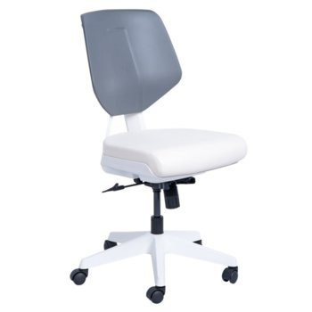 Работен стол Carmen SMART, Еко кожа, до 100 кг., бял image