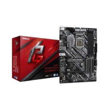 Дънна платка Asrock Z490 Phantom Gaming 4, Z490, LGA1200, DDR4, PCI-E 3.0, (HDMI)(CFX), 6x SATA 6Gb/s, 1x Ultra M.2 Socket (22110), 1 x USB 3.2 Type C, 2x USB 3.2, ATX image