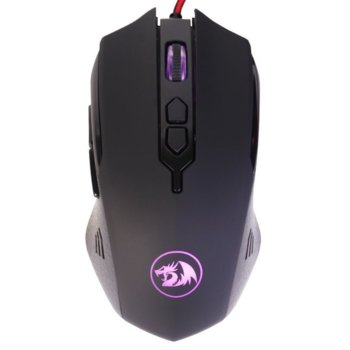 Мишка Redragon Inquisitor 2 M716A-BK, оптична (7200 dpi), 7 бутона, подсветка, USB, черна image