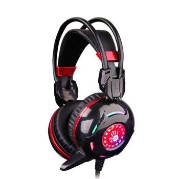 Слушалки A4Tech Bloody G300, микрофон, геймърски, черни image