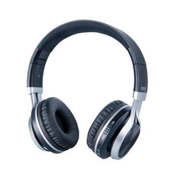Слушалки Moveteck K3608, безжични, микрофон, Bluetooth, 200mAh батерия, черни image