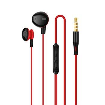Слушалки Earldom ET-E8, микрофон, черно/червени image