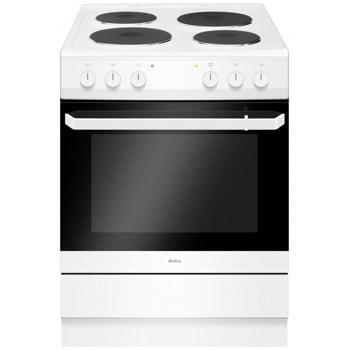 Готварска печка Amica 618EE2.30EFW, 4 нагревателни зони, 62 л. обем, 9 функции на фурната, бяла image