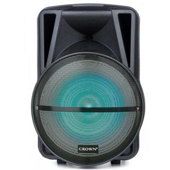 Тонколона Crown XBS-450BM, 2.0, RMS(450W), FM Radio, Bluetooth, USB, SD, LCD дисплей, черна, караоке, дистанционно, 2бр. безжични микро image