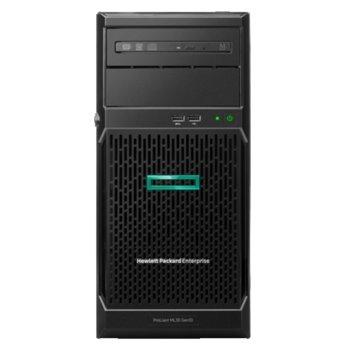 Сървър HPE ML30 G10 (P16928-421), четириядрен Coffee Lake Intel Xeon E-2224 3.4/4.6 GHz, 16GB UDIMM DDR4, без твърд диск, 2x 1GbE, без ОС, 1x 350W PSU image