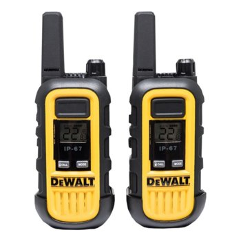 Радиостанции DeWALT DXPMR 300, 16 канала, до 8 km, UHF/FM, поставка за зареждане, жълти image