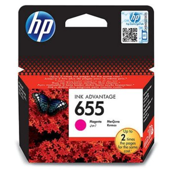 ГЛАВА HEWLETT PACKARD Deskjet ink advantage 3525/4615/4625/5522/6525 - Magenta - (655) - P№ CZ111AE - заб.: 600p image