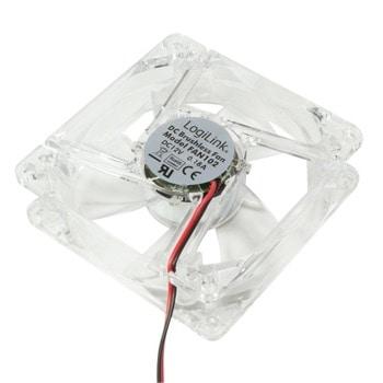 Вентилатор 80mm, Logilink FAN102, 4-pin, 2500 rpm, синя подсветка image
