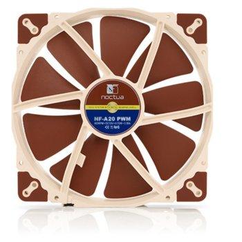 Вентилатор 200mm, Noctua 200x200x30mm, 4-pin, 800 rpm, кафяв image