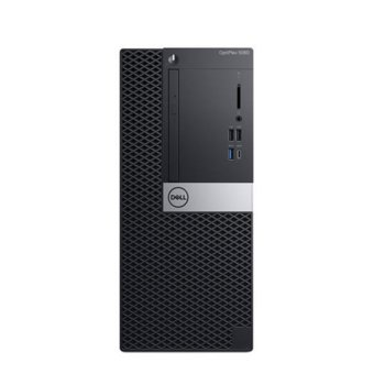 Настолен компютър Dell Optiplex 5060 MT (N046O5060MT_UBU1-14), шестядрен Coffee Lake Intel Core i5-8500 3.0/4.1 GHz, 256GB SSD, 1x USB 3.1 Gen 2 Type-C, клавиатура и мишка, Linux image