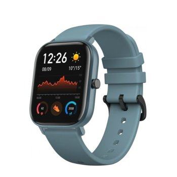 """Смарт часовник Xiaomi Amazfit GTS - Blue, 1.65"""" (4.19 cm) AMOLED дисплей, до 14 дни живот на батерията, 12 спортни режима, 3-осен геомагнитен сензор, син image"""