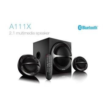 Тонколони Fenda A111X, 2.1, 11W + 26W (13W + 13W + 11W), Bluetooth 4.0, RCA, дистанционно, черни image