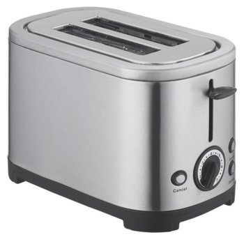 Тостер Finlux FTX-79, 2 отделения, регулируем таймер, автоматично изключване и изваждане на филийките, повторно нагряване/размразяване, 700W, инокс image