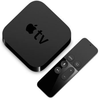 Медиа плейър Apple TV 64GB, A8 64-битова архитектура, 64GB Flash памет, HDMI 1.4, USB-C, Wi-Fi 802.11ac, LAN 10/100, Bluetooth image