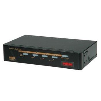DVI сплитер Roline 14.01.3551, от 1x DVI(ж) към 4x DVI(ж) image