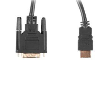Кабел Lanberg CA-HDDV-20CU-0018-BK, от HDMI(м) към DVI-D(м), 1.8m, черен image