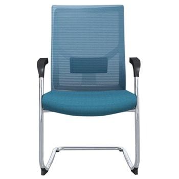 Посетителски стол RFG Snow M, до 120кг, дамаска/меш, светлосин, 2 броя в комплект image