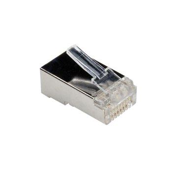 Конектори ROLINE, 21.17.3061, RJ-45, FTP, Cat 6, екраниран, 10бр. image