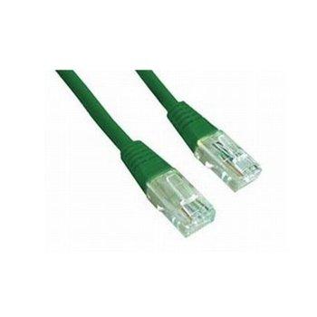 Пач кабел Intellinet, UTP, Cat5e, 1m, зелен image