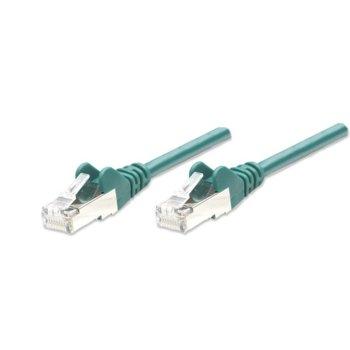 Пач кабел, Intellinet, FTP, Cat.5e, 0.5m, зелен  image