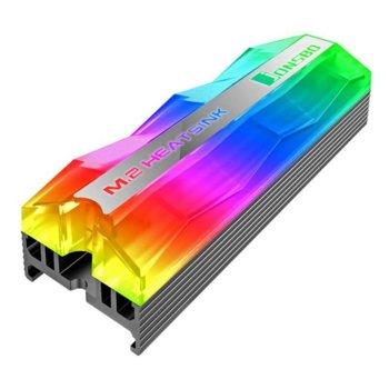 Охладител за SSD M.2 2280 Jonsbo M.2-2 ARGB, сив, RGB подсветка image