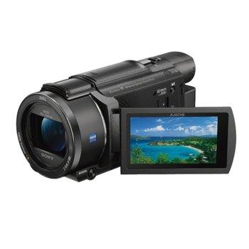 """Видеокамера Sony FDR-AX53, 4K UHD, 3.0"""" (7.62cm) LCD, 20x оптично мащабиране, SD/SDHC/SDXC, Multi/Micro USB, HDMI (micro), Wi-Fi, NFC image"""