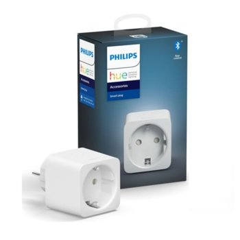 Смарт контакт Philips Hue, Wi-Fi, бял image