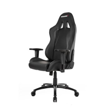 Геймърски стол AKRACING Nitro Gaming, кожен, черен image