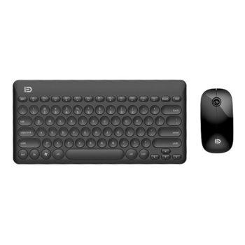 Комплект клавиатура и мишка Fude IK6620, безжични, оптична (1500dpi), USB, черни image