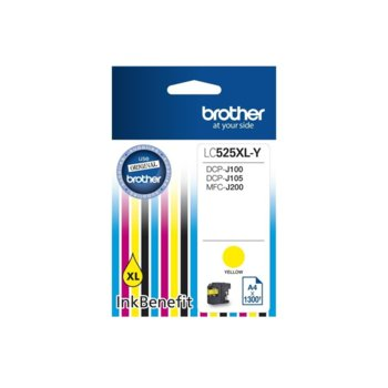 ГЛАВА ЗА BROTHER DCP-J100, DCP-J105, MFC-J200 Ink Cartridge High Yield for - Yellow - P№ LC525XLY - Заб.: 1300k. image