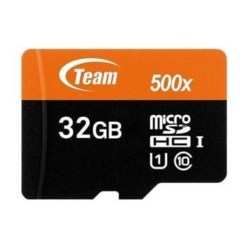 Карта памет 32GB microSDXC с адаптер, Team Group TUSDH32GUHS03, Class 10, скорост на четене 80MB/s, скорост на запис 15MB/s image
