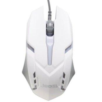 Мишка M66, оптична, LED светлини, USB, бяла image