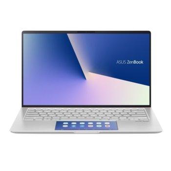 """Лаптоп Asus ZenBook UX434FLC-WB712R (90NB0MP8-M08570)(сребрист), четириядрен Comet Lake Intel Core i7-10510U 1.8/4.90 GHz, 14"""" (35.56 cm) Full HD Glare Display & GF MX250 2GB, (HDMI), 8GB, 512GB SSD, 1x USB 3.1 Type C, Windows 10 Pro image"""