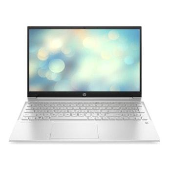"Лаптоп HP Pavilion 15-eg0005nu (2M6A6EA)(сребрист), четириядрен Tiger Lake Intel Core Intel Core i5-1135G7 2.40/4.20 GHz, 15.6"" (39.62 cm) Full HD IPS Anti-Glare Display & GF MX350 2GB, (HDMI), 16GB DDR4, 512GB SSD, 1x USB Type-C, Free DOS  image"