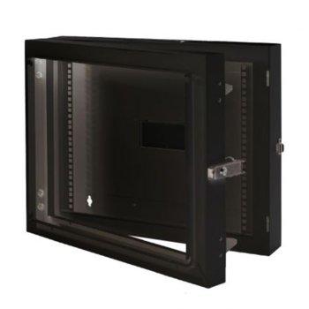 Double-Section модул MIRSAN MR.EKG09U.01 за мрежов шкаф за стена - 600 x 150 x 498 мм / 9U, черен image