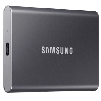 """Памет SSD 500GB Samsung T7 (MU-PC500T), USB-C 3.2, 2.5""""(6.35 cm), скорост на четене 1050 MB/s, скорост на запис 1000 MB/s image"""