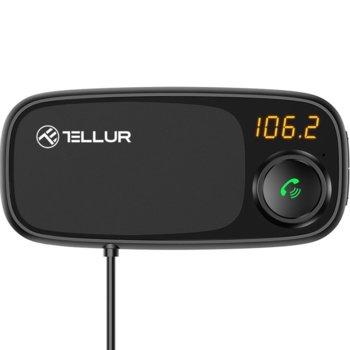 FM трансмитер Tellur FMT-B6 TLL171082, от 87.5 MHz до 108.0 MHz, Bluetooth 4.2, 2x USB, MicroSD слот, LED дисплей, микрофон, черен image