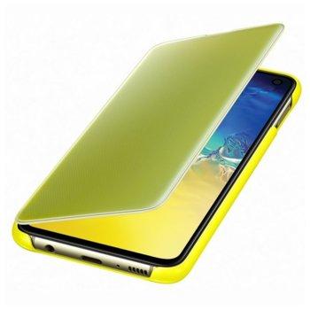Kалъф за Samsung Galaxy S10e, Samsung Clear View Cover, жълт image