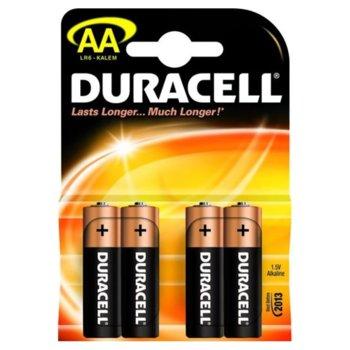 Батерии алкални Duracell AA, 1.5V, 4 бр. product