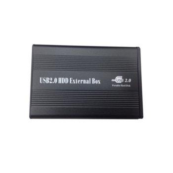 """Кутия 2.5"""" (6.35 cm) за 2.5"""" (6.35 cm) HDD, IDE, USB 2.0, черна image"""